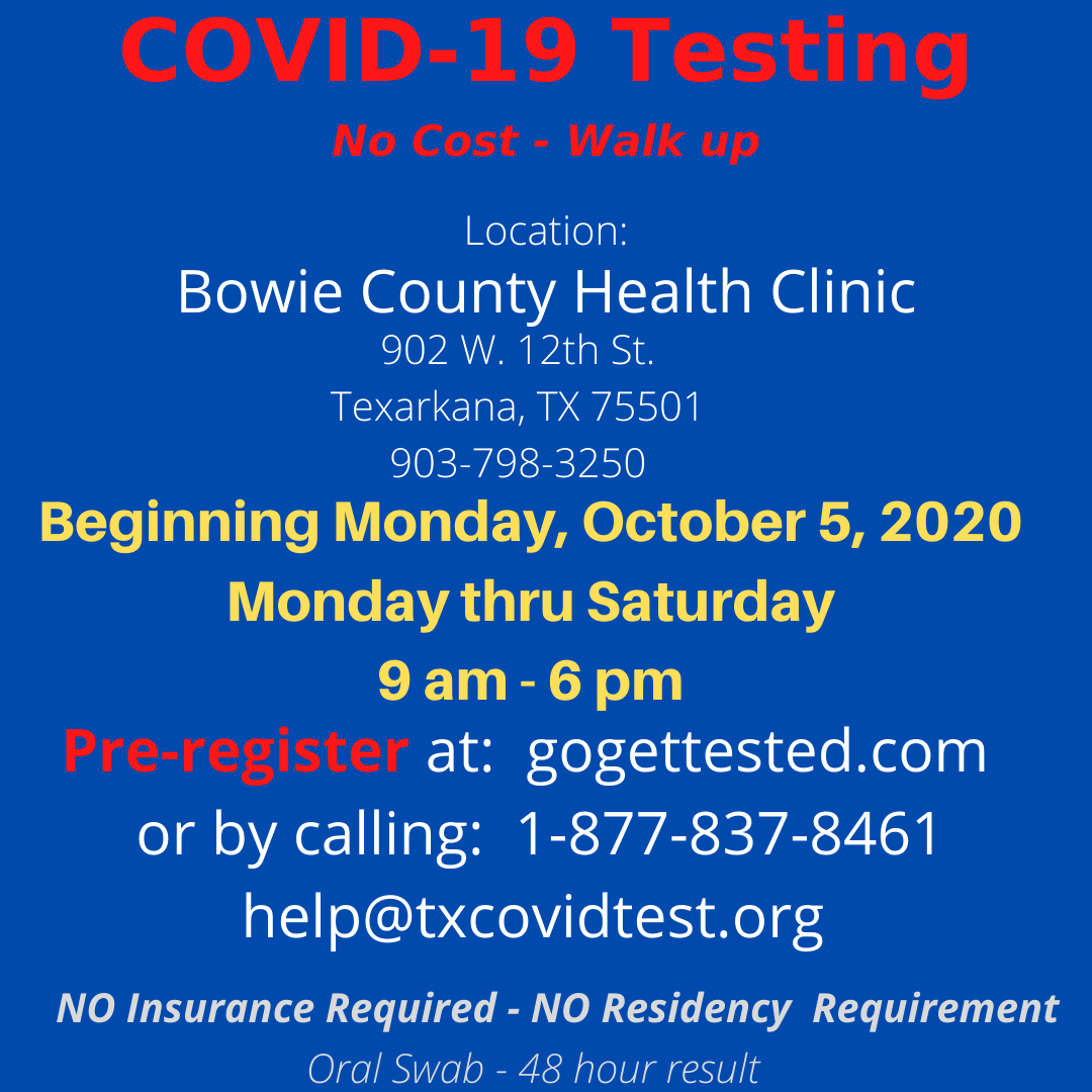 COVID-19 Testing October 2020