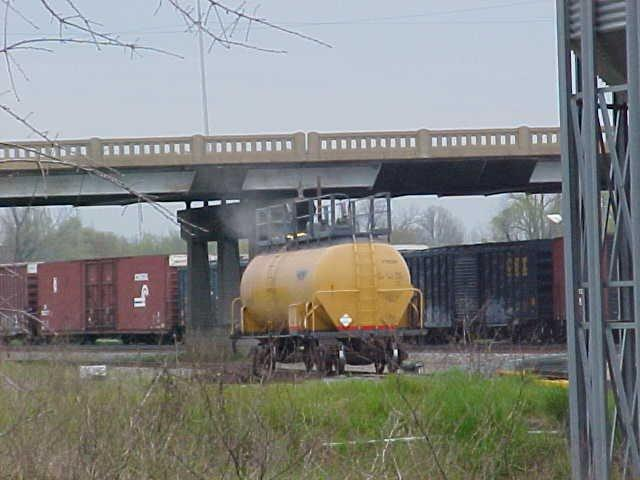 Photo of the yellow rail car used during training.